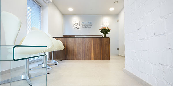 Wnętrze gabinetu dentystycznego Stomatologia Wilczek z Tarnowskich Gór - recepcja